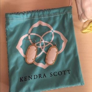 White Kendra earrings